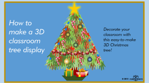 3D Christmas tree display