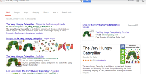 Google search the very hungry caterpillar