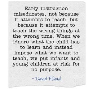 Early-instruction - David Elkind