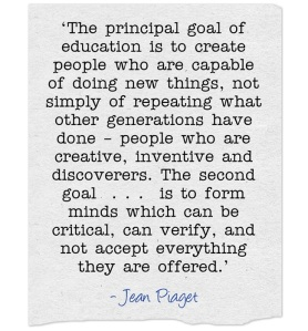The-principal-goal-of education - Piaget