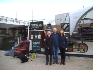 Anne, Geoff and Lisa and a floating bookshop