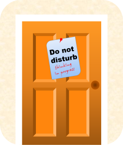 do not disturb door