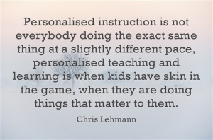 Personalised-instruction Chris Lehmann
