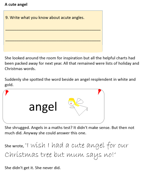 A cute angel
