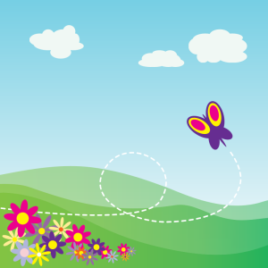 venkatrao, A butterfly flying with a dotted path over a hill background https://openclipart.org/detail/69967/1278212857