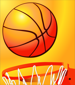 cyberscooty, a basketball about to enter a basketball hoop https://openclipart.org/detail/205569/basketball