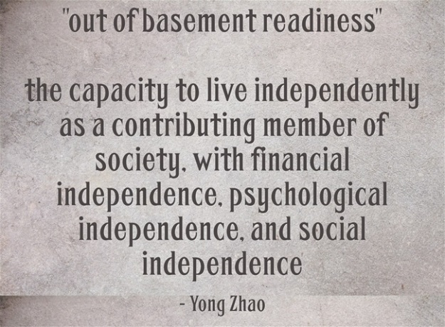 out-of-basement readiness - Yong Zhao