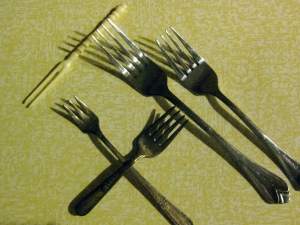 Using the wrong fork is  embarrassing, but it's a minor mistake.