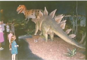 dinosaurs at museum Jan 91