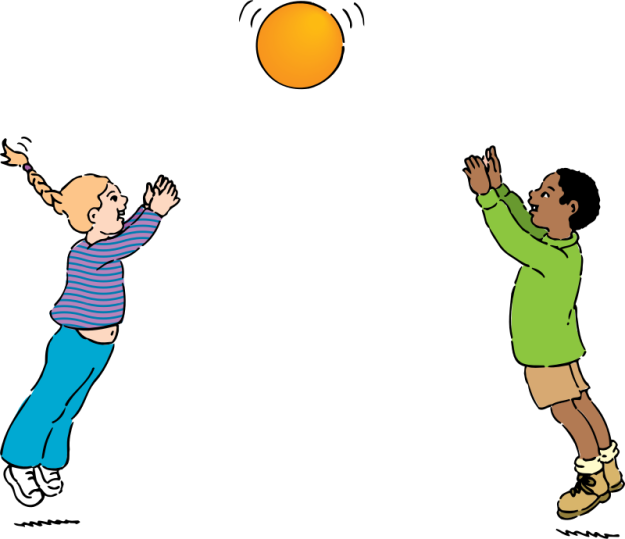 Johnny Automatic, cartoon of a girl and boy playing with a ball https://openclipart.org/detail/721/playing-ball