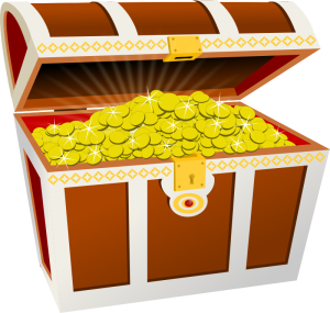 Moini, A treasure chest with lots of twinkling gold coins, https://openclipart.org/detail/188617/treasure-chest