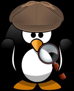 Moini, sleuth penguin https://openclipart.org/detail/221475/sleuth-penguin