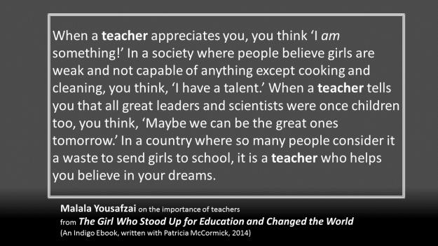 Malala - teachers