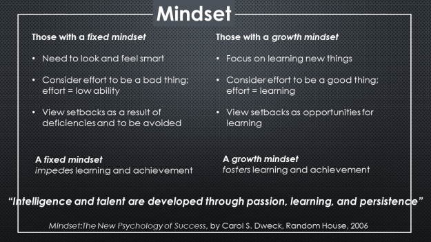 fixed - growth mindset