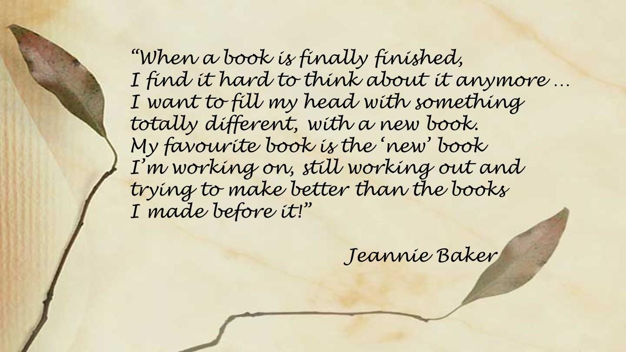 Jeannie Baker - favourite book
