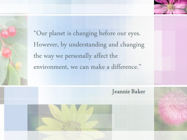 Jeannie Baker - planet changing