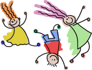 GDJ, Playful stick figures https://openclipart.org/detail/230070/playful-stick-figure-kids