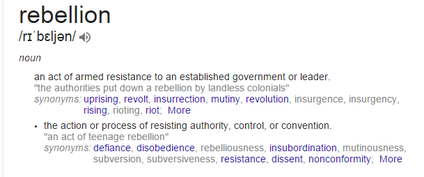 rebellion definition