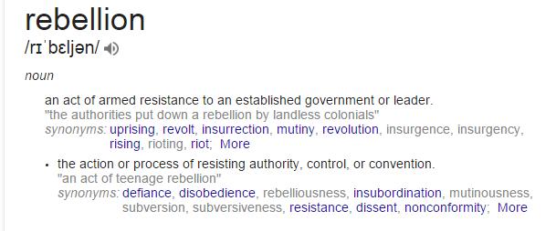rebellion definition