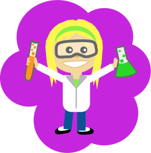 Scout, Science Girl https://openclipart.org/detail/192588/science-girl