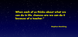 stephen hawking - teacher