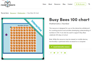 Busy Bees 100 chart