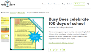 Busy Bees Celebrate 100 days of school
