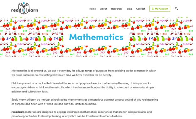 mathematics readilearn
