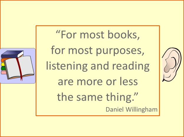 Willingham - reading and listening