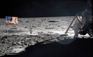Neil Armstrong walks on the moon, NASA