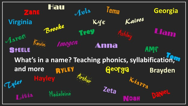 teaching phonics syllabification