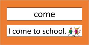 sight words sentence strips