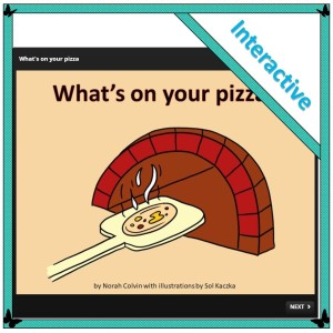 pizza-themed interactive cross-curricular teaching resources for lower primary