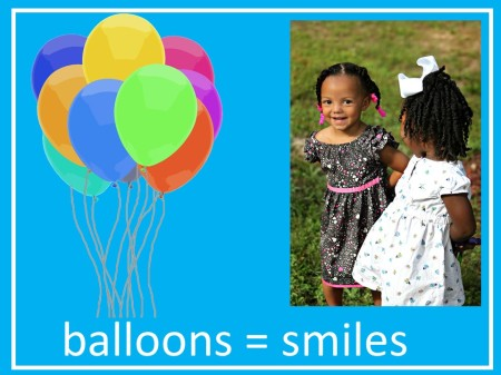 balloons, celebrations, happy times, smiling kids