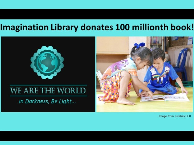 #WATWB Dolly Parton Imagination Library 100 millionth book