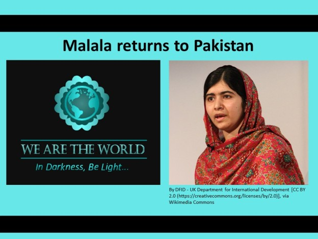 Malala Yousafzai returns to Pakistan after five years #WATWB