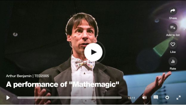 A performance of mathematic by Arthur Benjamin TED talk