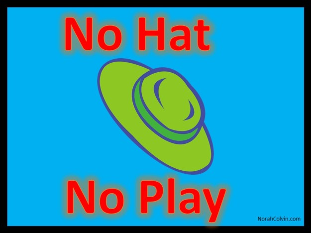 no hat no play is a rule employed by many school in Australia to ensure children are sun safe when playing at lunchtime