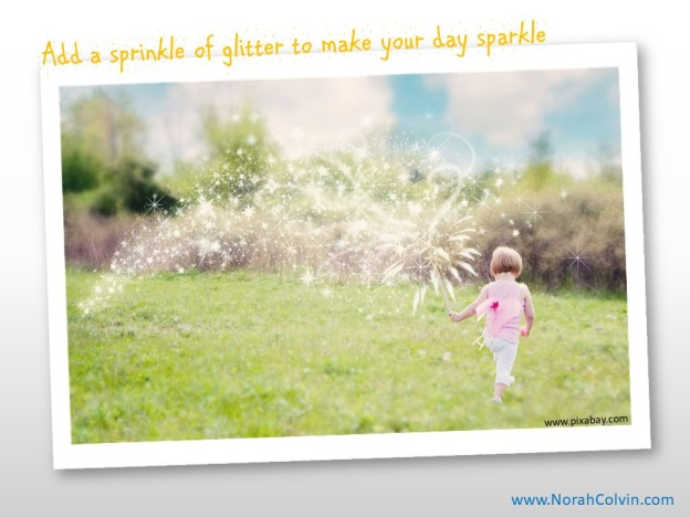 glitter, glisten, smiles and sparkles