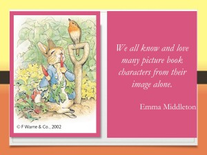 Emma Middleton discusses the importance of illustrations in children's picture books, including Peter Rabbit