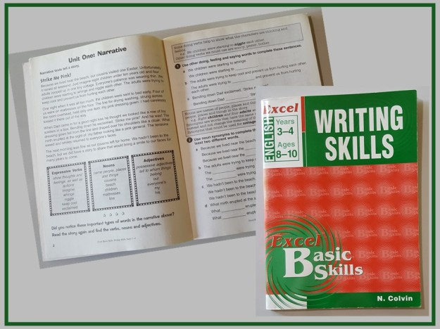 Writing Skills workbook with Strike Me Pink