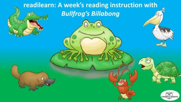 teaching literacy skills with Bullfrog's Billabong, a week of literacy lessons and group activities