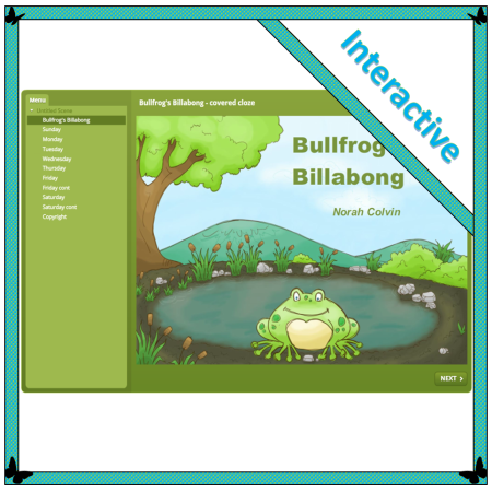 Bullfrog's Billabong, teaching effective reading strategies with covered cloze on the interactive whiteboard