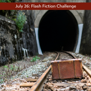 flash fiction prompt stranded suitcase