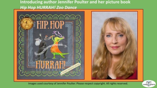 Interview with prolific author Jennifer Poulter about her pictrue book Hip Hop Hurrah Zoo Dance