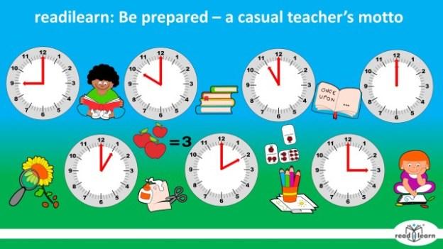 be prepared - the casual teacher's motto
