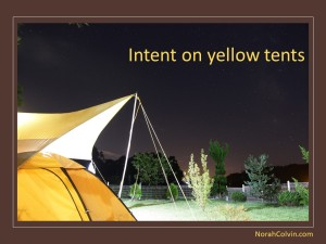 two flash fiction pieces about yellow tents