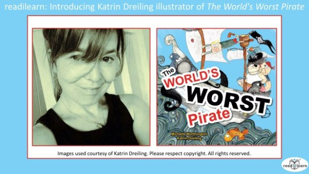 Interview with Katrin Dreiling illustrator of The World's Worst Pirate by Michelle Worthington