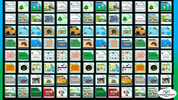interactive teaching resources for use on the interactive whiteboard for the first three years of school