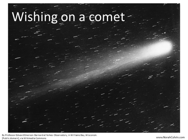 flash fiction story about a comet and a marriage proposal